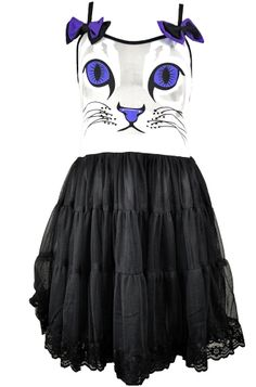 Why do I like this?!     Cupcake Cult Feline Dress, £40.99    http://www.attitudeclothing.co.uk/product_32257-64-2444_Cupcake-Cult-Feline-Dress.htm