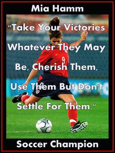 Girls Soccer Poster Mia Hamm Photo Quote Wall by ArleyArtEmporium, $15.99