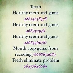 For teeth - Apocalypse Now And Then Life Code, Healing Codes, Switch Words, Tooth Pain, Magic Words, Yoga, Reiki, Coding, Nlp Techniques
