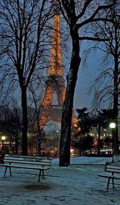 Párizs a hó alatt, Franciaország