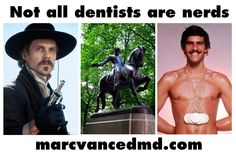 Some of the more famous dentists in popular culture. Left to right: Doc Holliday - famous gambler and friend to Wyatt Earp; Revolutionary War hero Paul Revere; Mark Spitz - the Michael Phelps of the late 60's and early 70's (not a dentist but was accepted to dental school before he decided to pursue swimming an Olympic swimming career). Mark Spitz, Olympic Swimming, Wyatt Earp, Doc Holliday, Paul Revere, Pop Culture References, Michael Phelps, Dentist In, Dental Hygiene