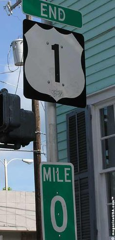Mile 0 in Key West Florida - where Hwy 1 begins and ends - so cool!