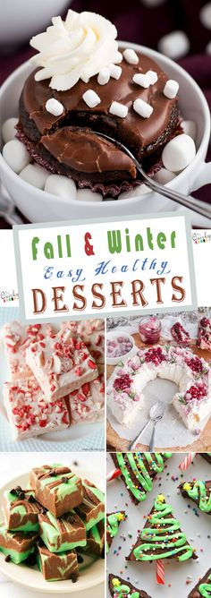 """I hope you will love this list of """"23 Fall & Winter Easy Healthy Desserts To Make At Home"""" and These dessert will help you to make a perfect dessert for holiday! #winterdessert #christmas #desserts #snack"""