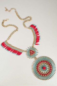 Tribal Time Necklace $28