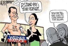 Presumptuous Politics: Anthony Weiner & Huma Abedin Cartoons