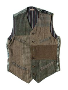 WEB SHOP - KAPITAL upcycle inspiration: Fashion Tips For Women, Mens Fashion, Stylish Outfits, Cool Outfits, Gilet Crochet, Style Masculin, Look Man, Boro, Work Wear