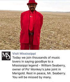 RIP William Seaberry, Po Monkey's Lounge, Merigold MS