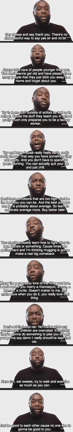 "Some of the most sage-like wisdom from Killer Mike. ""celebrate average more and buy better beer"". Amen"