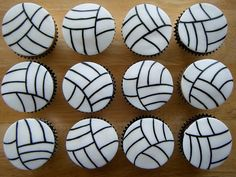 Volleyball Cake & Volleyball Cupcakes Ideas / Volleyball Cake Toppers