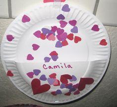 Paper Plate Valentine Holder -Valentines Day