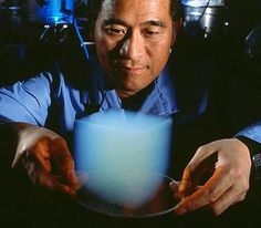 Aerogel.     Despite its incredibly low density, aerogel is one of the most powerful materials on the planet. It can support thousands of times its own weight, block out intense heat, cold and sound – yet it is 1,000 times less dense than glass, nearly as transparent and is composed of %99.8 air.