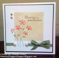 F4A20 - Sharing In Your Sorrow by Princessheather - Cards and Paper Crafts at Splitcoaststampers