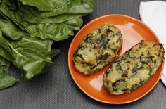 Twice Baked Potatoes with Chard and Garlic Scapes
