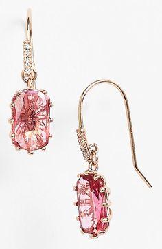 Fabulous pink drop earrings