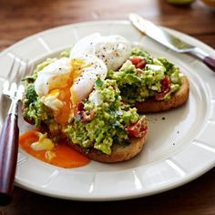 Collect this Poached Eggs with Avocado and Feta Smash on Sourdough recipe by…