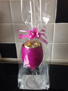 Choc in glittered glass great gift