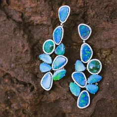 Opal Earrings - Rare Gems of India (@raregemsofindia)