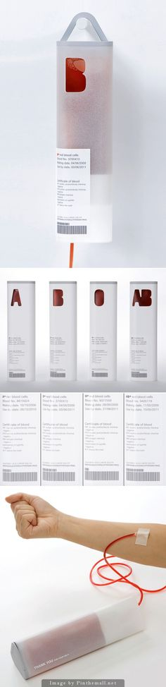 Pretty yet functional blood transfusion and collection #packaging