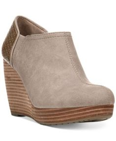 Dr. Scholl's Harlow Wedge Booties - Tan/Beige 8.5M