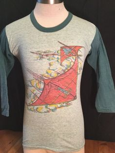 Vintage 198's Raglan 50/50 T-Shirt Hanggliding Shirt Size Medium Incredible by 413productions on Etsy