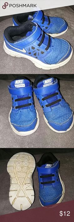 Kid Nikes for Boys Blue and white Nike tennis shoes, boy or girl could wear these shoes with jeans or shorts Nike Shoes Sneakers