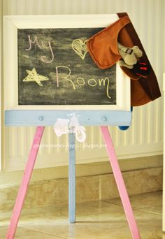 Handmade blackboard! Blackboards, Kids Room, Chair, Creative, Handmade, Furniture, Decoration, Home Decor, Decor