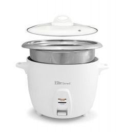 Elite Cuisine 10 Cup Cooked Professional Rice Cooker