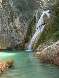 The hidden paradise. Greek Beauty, Travel Goals, Waterfalls, Lakes, Countryside, Islands, Greece, Paradise, Around The Worlds