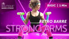 RETRO BARRE //BASIC | Biceps Curl | 1 Min | THE BOUTIQUE BARRE STUDIO® Barre, Leg Warmers, Put On, Biceps Curl, Curls, Boutique, Studio, Retro, Elegant