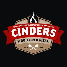 Cinders Wood Fired Pizza Logo