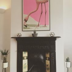 #Aida's ever so popular 'Flamingorama' seen in here in pride of place. More works by the artist can be found here: http://www.nellyduff.com/artists/aida