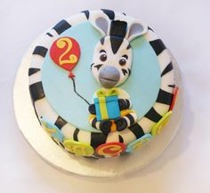 Zou Cake :) - Cake by Ayeta Zebra Birthday Cakes, Birthday Treats, 3rd Birthday Parties, Boy Birthday, Beautiful Cakes, Amazing Cakes, Zou, Zebra Party, Foundant
