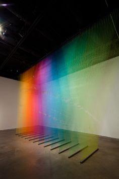 Thread installations by Gabriel Dawe.