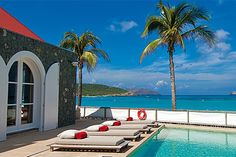 Situated on St. Jean Bay, Eden Rock St. Barths has become something of a St. Barth landmark since it opened in the 1950s. Through the years, the hotel has hosted everyone from Greta Garbo and Howard Hughes to notable families like the Rockefellers and Middletons. Pictured here: The poolside view.