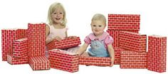 Cardboard Building Bricks.  Loved these.  Remember playing with these every Sunday in the church nursery!