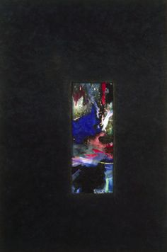 "UNTITLED ABSTRACT, MIXED MEDIA ON CANVAS, 68""x40"" keywords: abstract, conceptual abstraction, void, window, passage, color, surface, texture, mixed media, canvas"