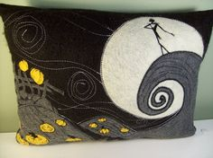 Whimsical Nightmare Before Christmas PILLOW by wickedstitchery