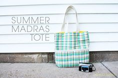 Tutorial and pattern for madras plaid summer tote bag from Anna at noodlehead, maker of terrific patterns.