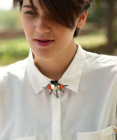 Latest silver alternative-fashion brooches with spikes best for evenings  online via @roposolove