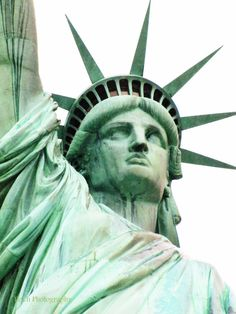 """This colossal neoclassical sculpture on Liberty Island in New York Harbor, designed by Frédéric Bartholdi and dedicated on October 28, 1886. This statue, a gift to the United States from the people of France, will be transformed onto a photo realistic canvas. This professonal photograph will be applied to a 20""""x24"""" artist grade canvas, and mounted on a wooden support frame."""