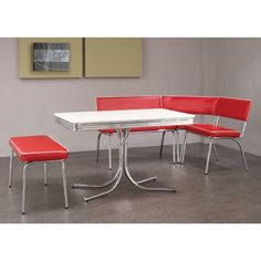 Retro Chrome Collection Dining room set 120001 Coaster MyPriceForYou.com - Affordable furniture