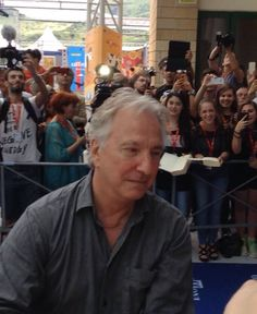"Talking to fans and signing autographs after receiving the ""Francois Truffaut Lifetime Achievement Award"" at the Griffoni Film Festival, Giffoni Valle Piana, Italy, 23rd July 2014."
