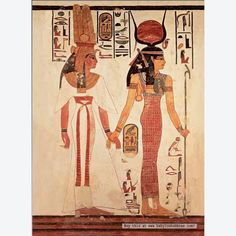 Isis (right hand figure) unwinged.