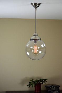 Pendant Light Fixture: Large Globe Pendant by OldeBrickLighting