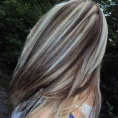 Image result for Grey Hair with Highlights and Lowlights