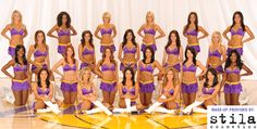 Laker Girls - dance inspiration :) I will dance on a pro team one day! Nba Cheerleaders, Cheerleading, Lakers Girls, Lakers Vs, Dance Team Photos, Showtime Lakers, Professional Cheerleaders, Ice Girls, Cheer Dance