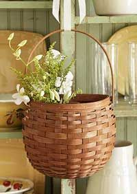 This beautiful, functional Hanging Seasons Basket is great for flowers, magazines, mail or simply adding seasonal flair to your home. Hang on a door, a wall or display it on a table. 9 x 5 x (includes handle) Hanging Baskets, Wicker Baskets, Wooden Basket, Hanging Storage, Storage Baskets, Gift Baskets, Vases, Bountiful Baskets, The Buckeye State