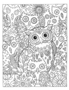 Creative Haven Owls Coloring Book (Adult Coloring) Owl Coloring Pages, Adult Coloring Book Pages, Printable Coloring Pages, Coloring Sheets, Coloring Books, Colorful Pictures, Illustration, Painting, Drawings