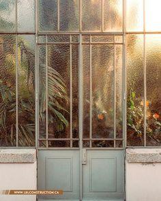 garden metal door with metal window frame house garden