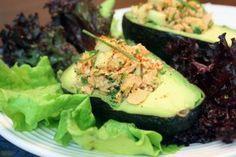 Cilantro-Lime Salmon Salad in Avocado Cups #paleo